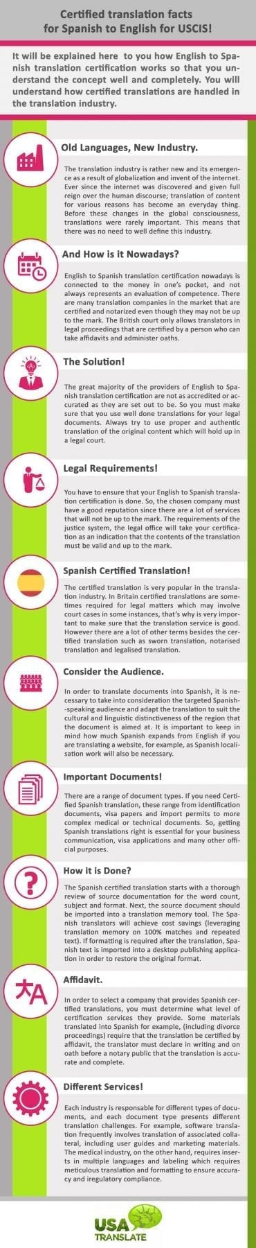 Facts About Certified Translation From Spanish To English For Uscis