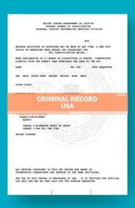 SAMPLE POLICE RECORD USA